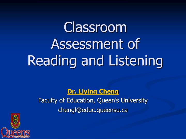 classroom assessment of reading and listening n.