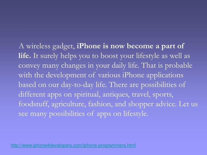 A wireless gadget,