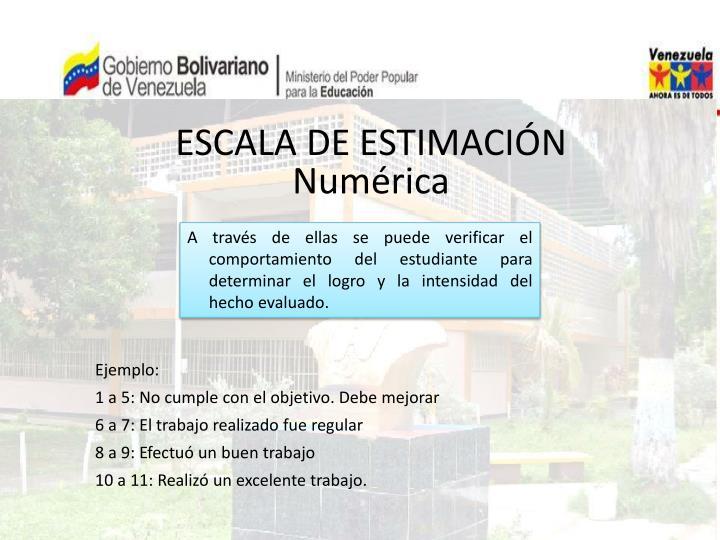 ESCALA DE ESTIMACIÓN