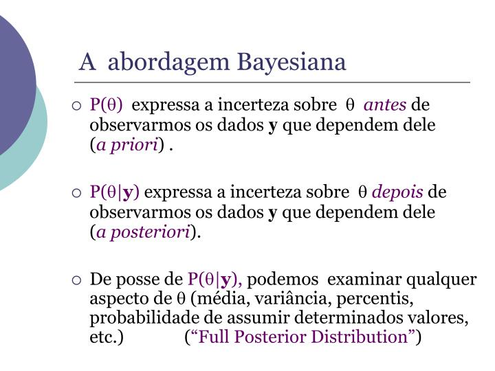 A  abordagem Bayesiana