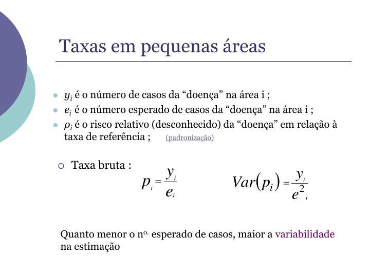 Taxas em pequenas reas