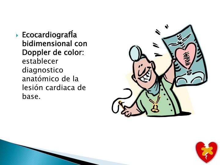 EcocardiografÍa bidimensional con Doppler de color: