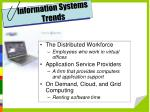 information systems trends