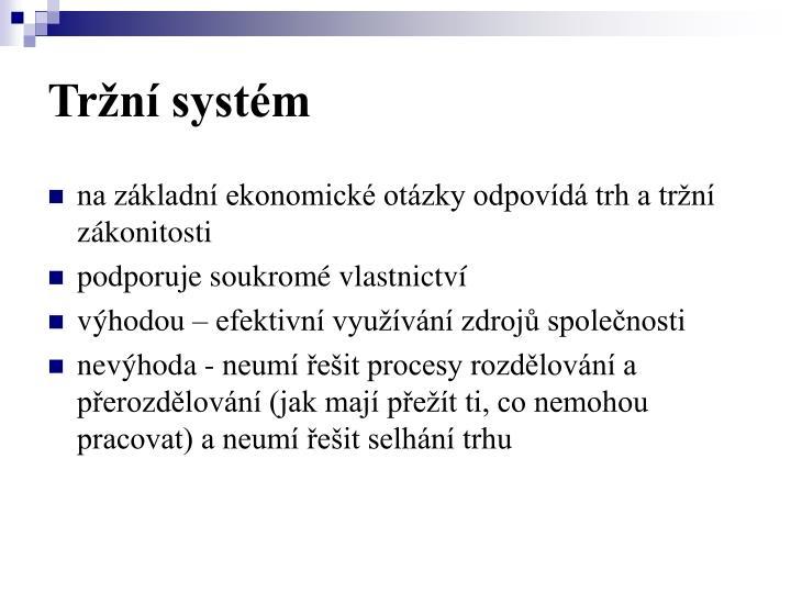 Tržní systém