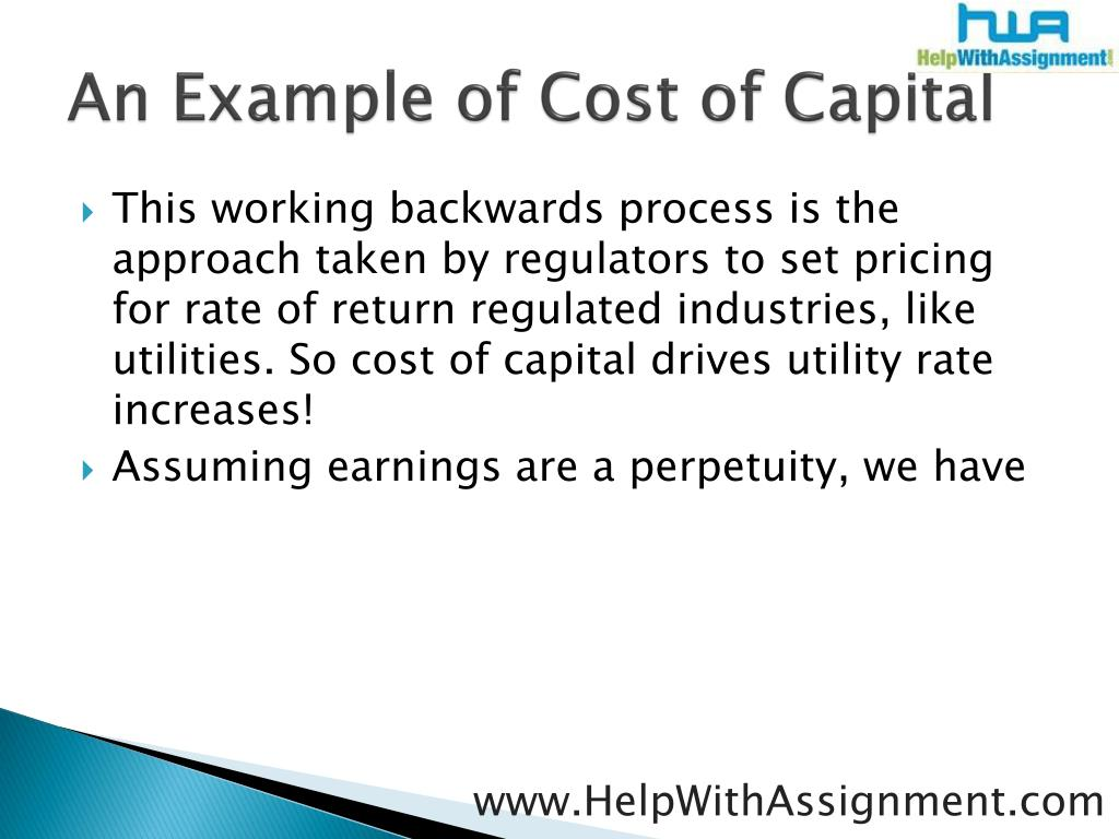 An Example of Cost of Capital