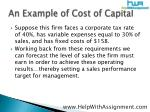 an example of cost of capital9