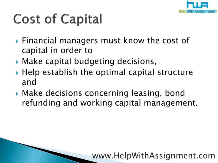 Cost of capital3