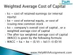 weighted average cost of capital6
