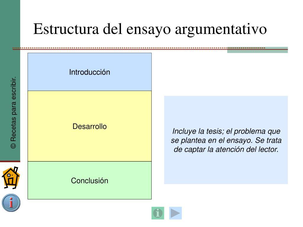 Ppt El Ensayo Argumentativo Powerpoint Presentation Free
