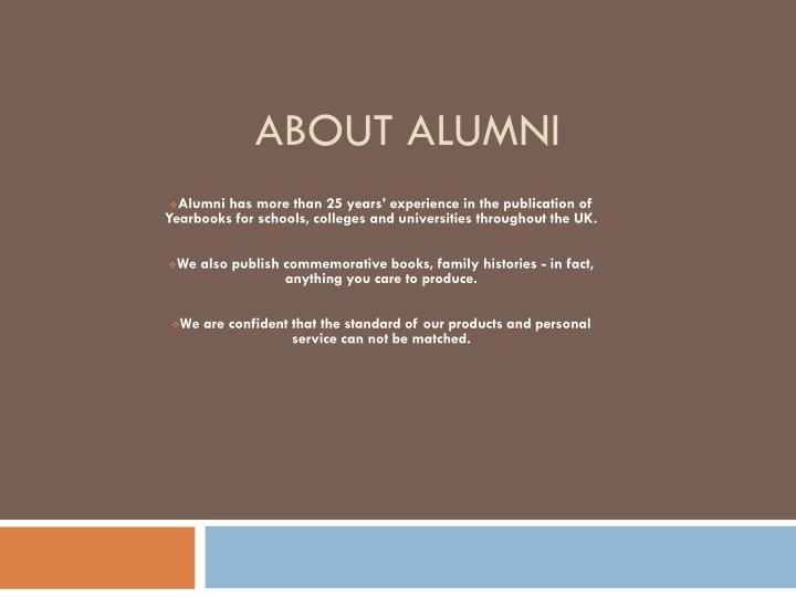 About alumni