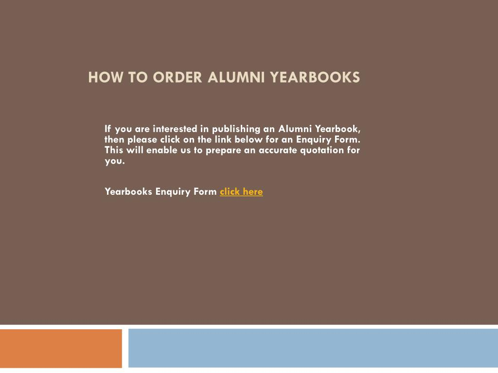 How to Order Alumni Yearbooks