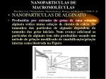 nanoparticulas de macromol culas
