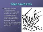 soap saves lives