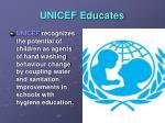 unicef educates