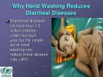 why hand washing reduces diarrheal diseases