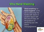 why hand washing