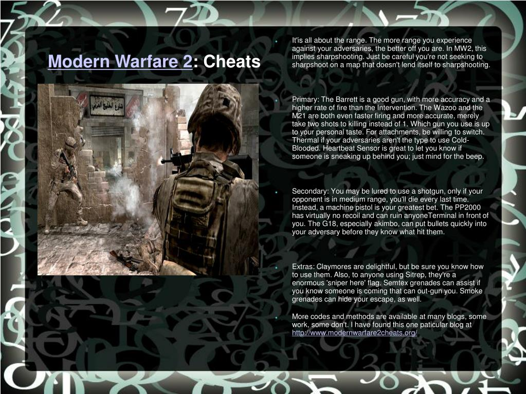 modern warfare 2 cheats l.