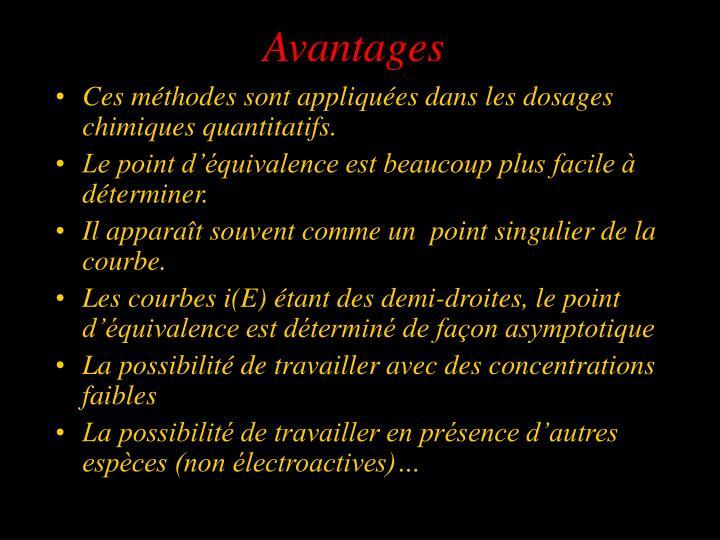 Avantages