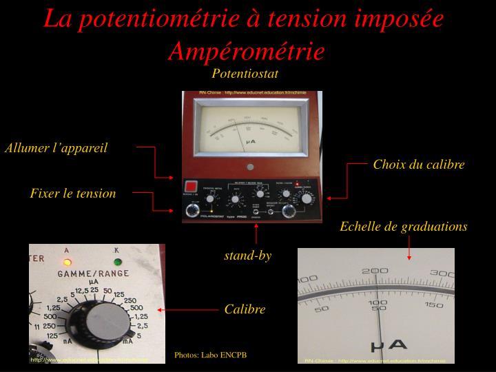 La potentiométrie à tension imposée