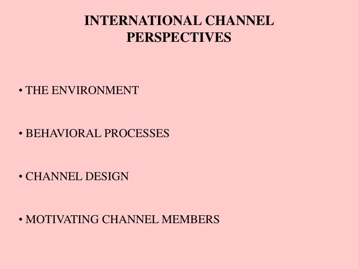 international channel perspectives n.