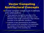 vector computing architectural concepts