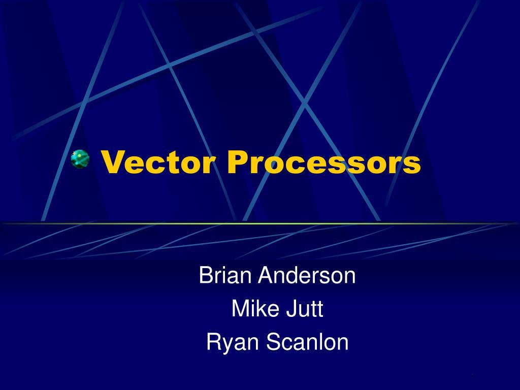 vector processors l.