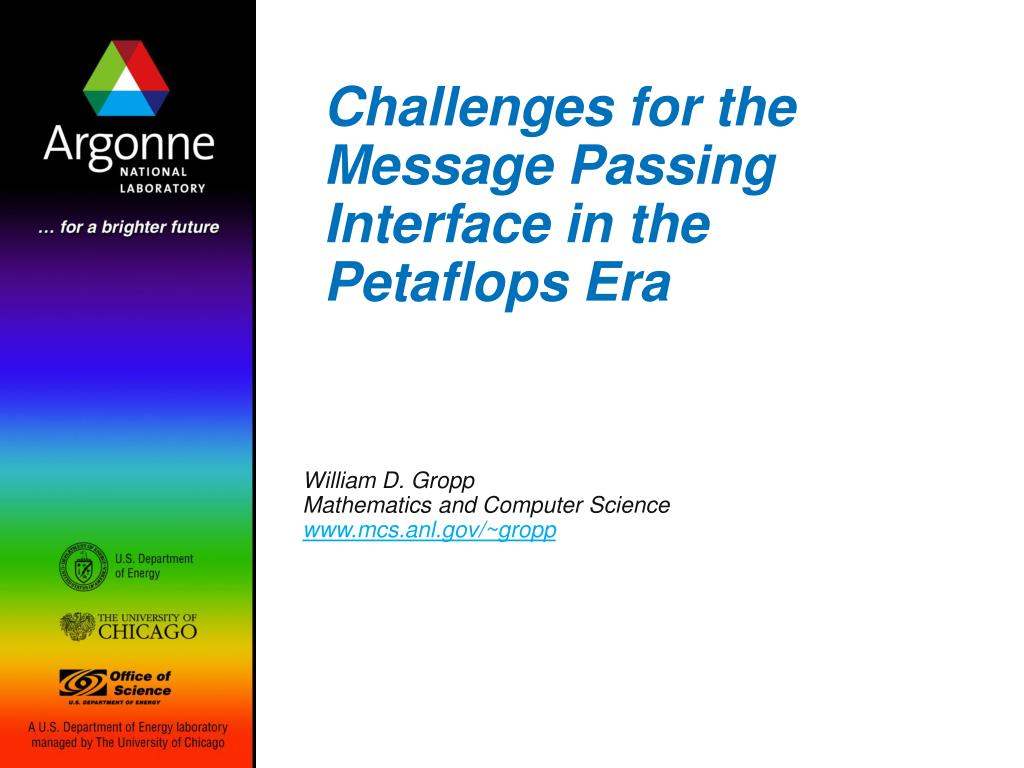 challenges for the message passing interface in the petaflops era