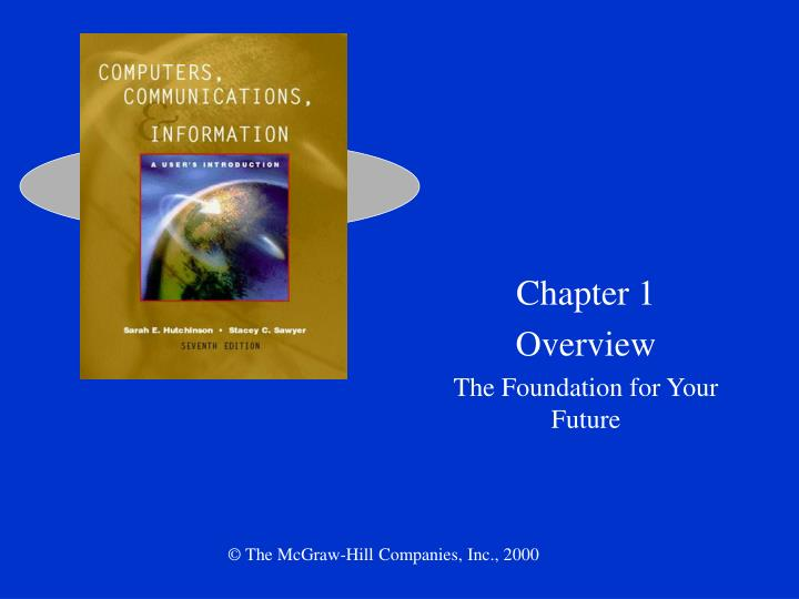 Chapter 1 overview the foundation for your future