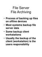file server file archiving