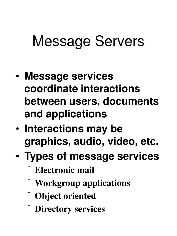 Message Servers