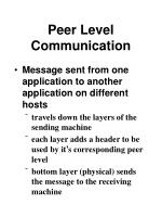 peer level communication