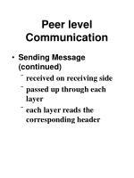 peer level communication80