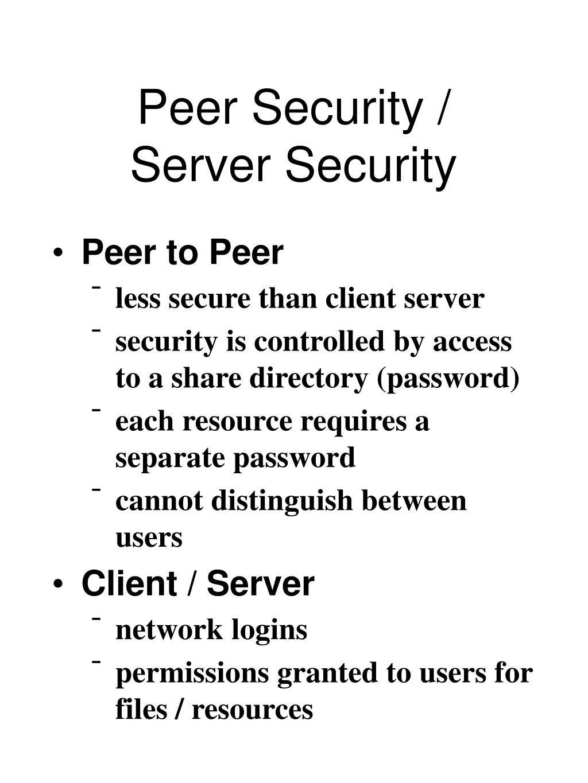 Peer Security /