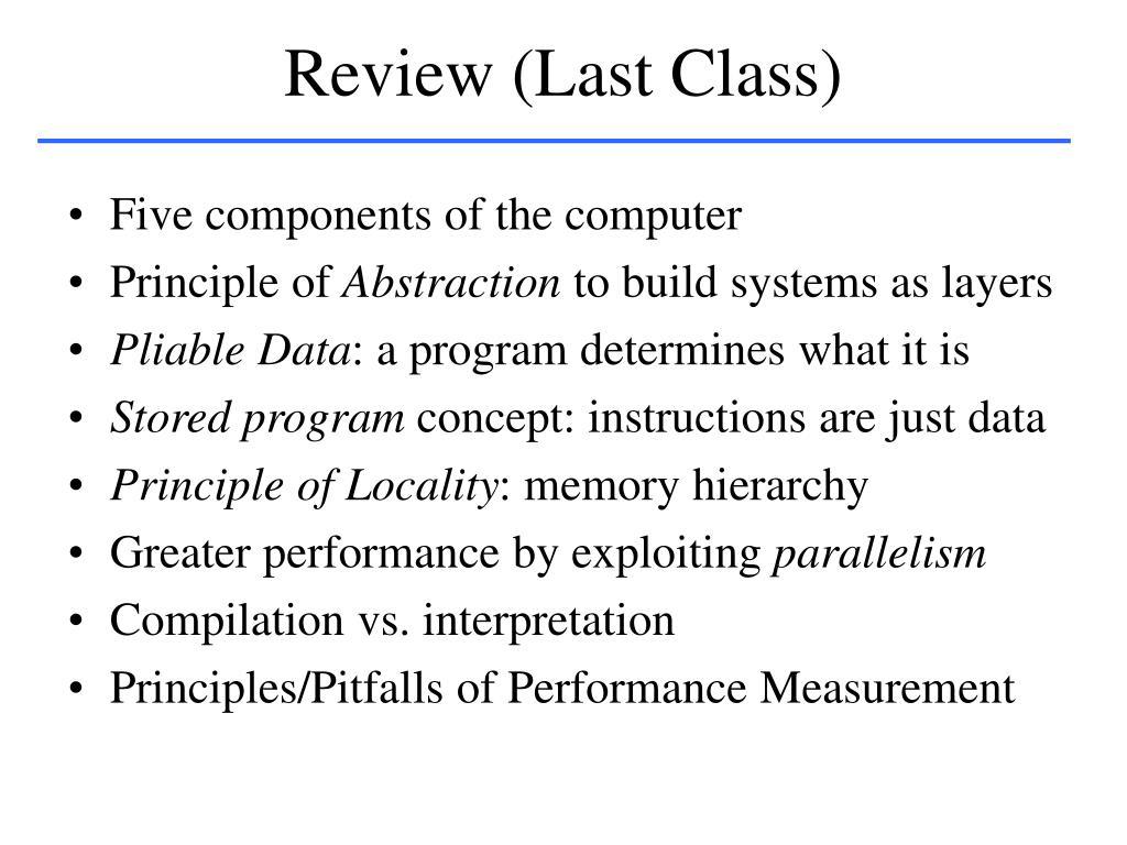 Review (Last Class)