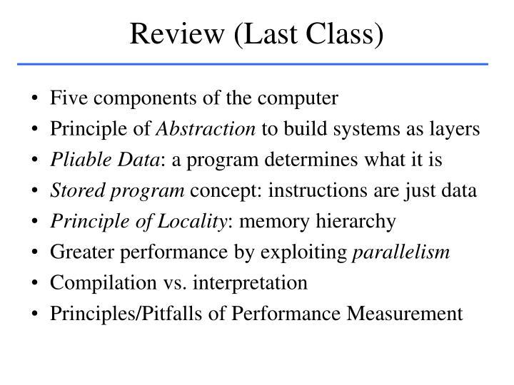 Review last class