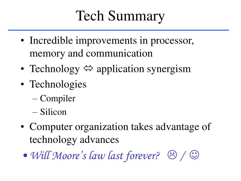 Tech Summary