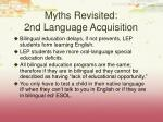 myths revisited 2nd language acquisition