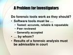 a problem for investigators