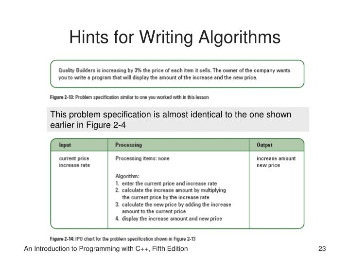 Hints for Writing Algorithms