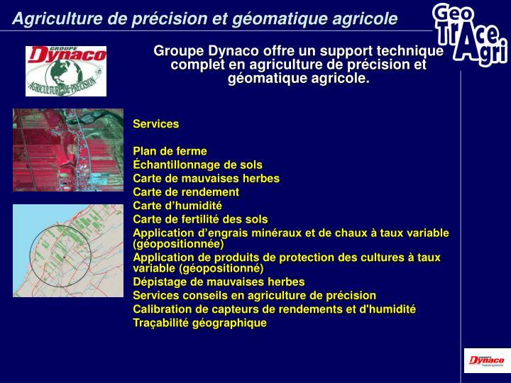 Agriculture de précision et géomatique agricole