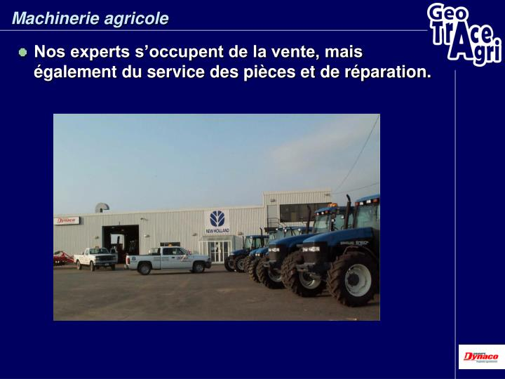 Machinerie agricole