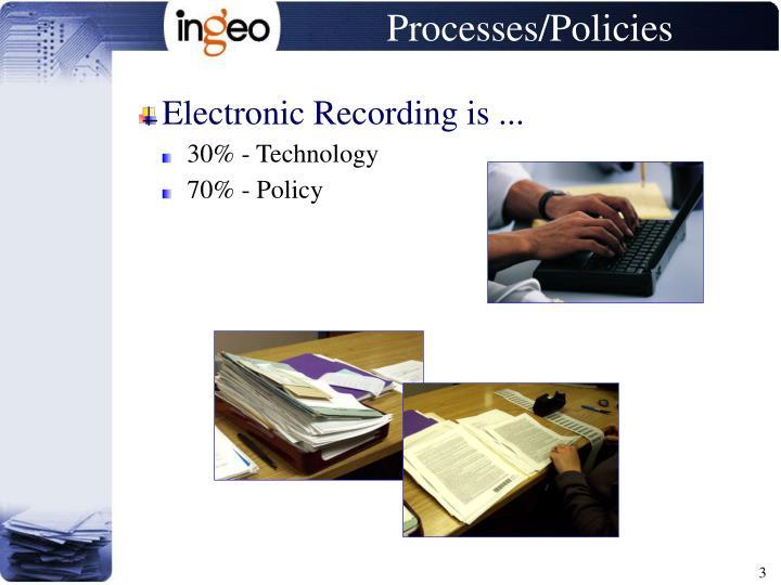 Processes policies
