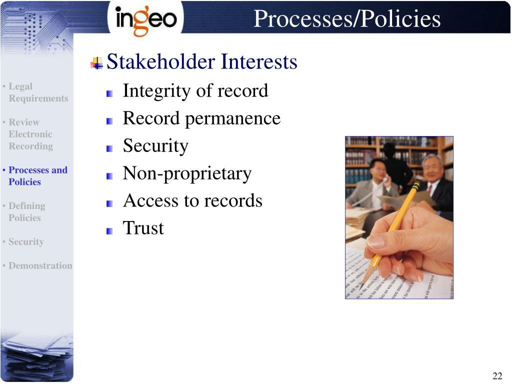 Stakeholder Interests