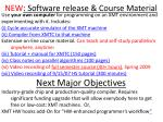 new software release course material