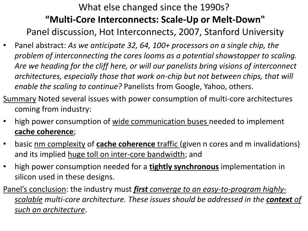 What else changed since the 1990s?