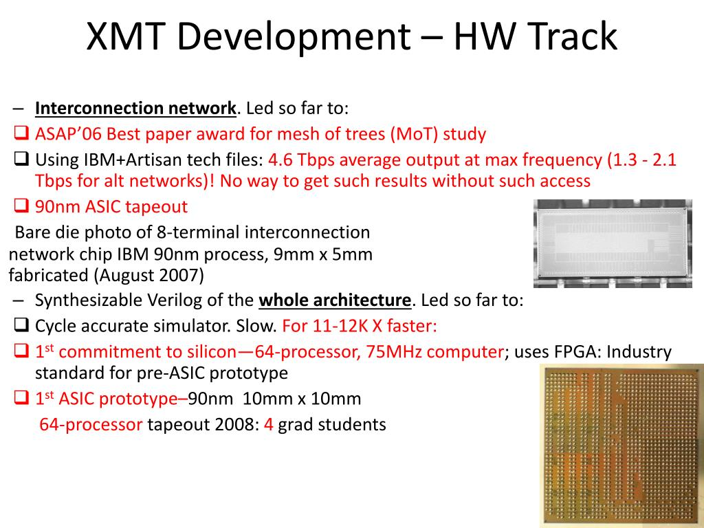 XMT Development – HW Track