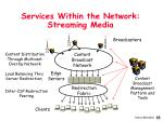 services within the network streaming media