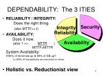 dependability the 3 ities
