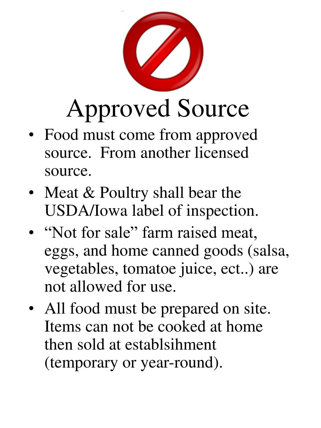 Approved Source