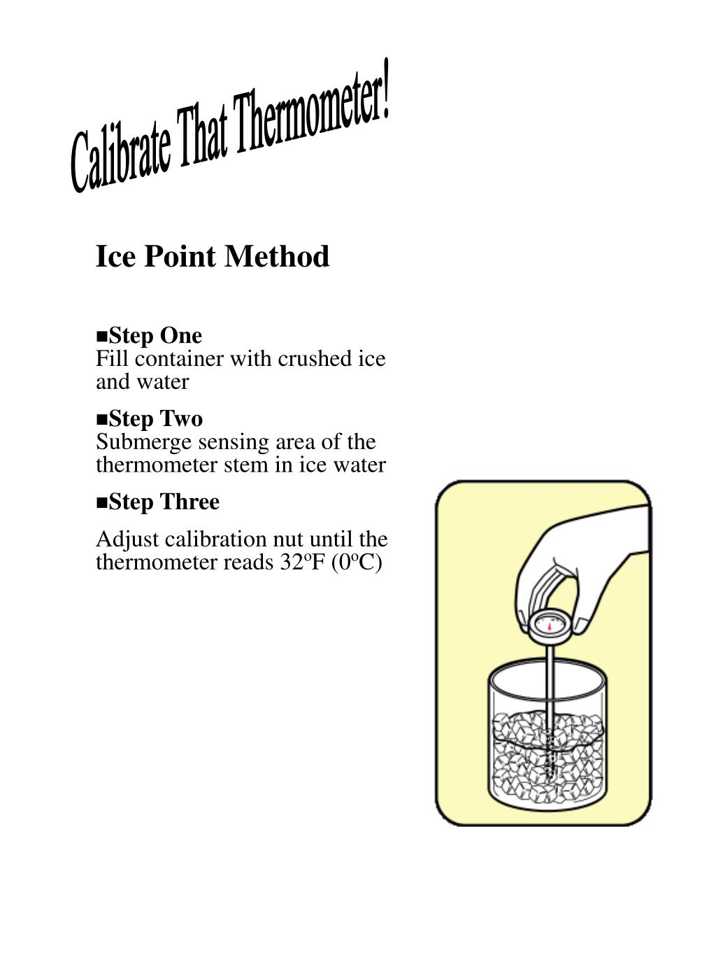 Calibrate That Thermometer!